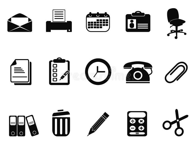 Biuro wytłacza wzory ikony ustawiać ilustracja wektor