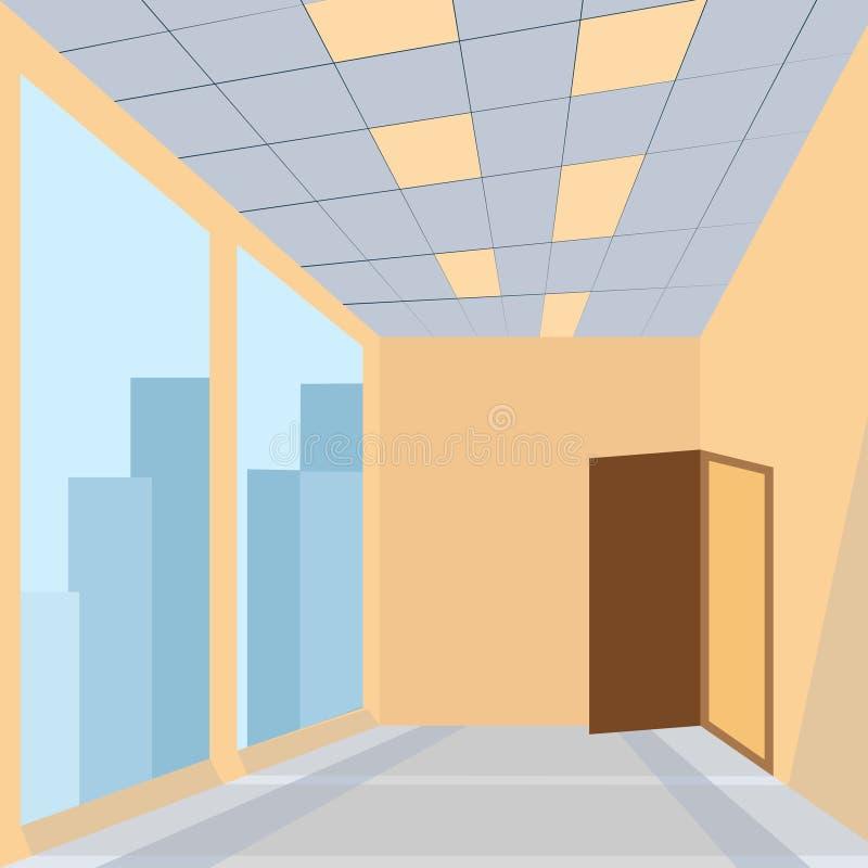 Biuro z drzwi ilustracji