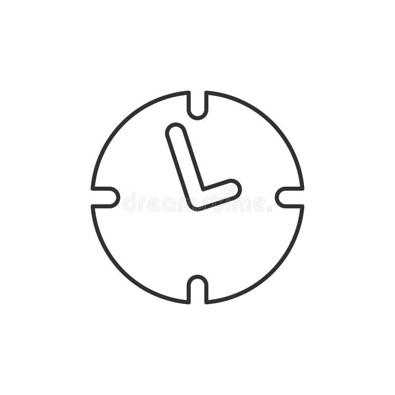 Biuro zegaru linii ikona, konturu wektoru znak, liniowy stylowy piktogram odizolowywający na bielu Zegarek, czasu symbol, logo il ilustracji
