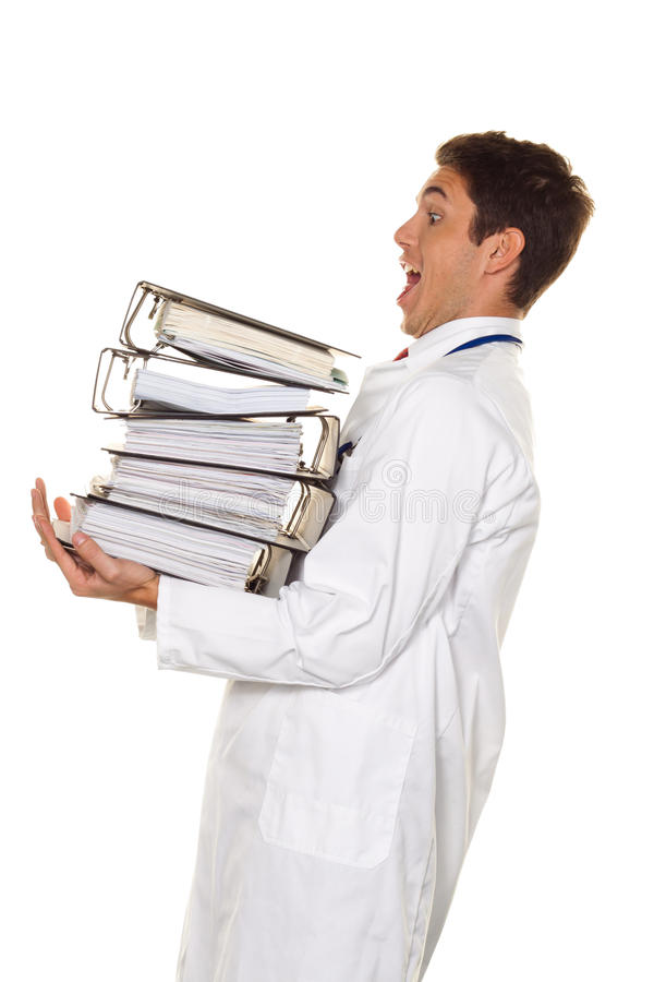 biurokraci doktorski kartotek stert stres zdjęcie royalty free