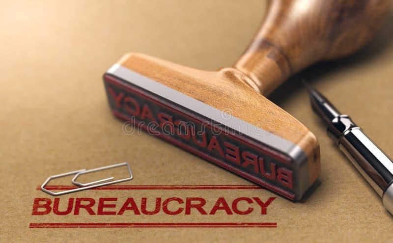 Biurokracja i czerwona taśma ilustracji