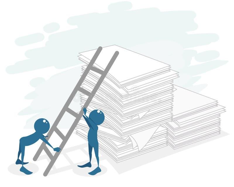 Biurokracja przy pracą ilustracja wektor