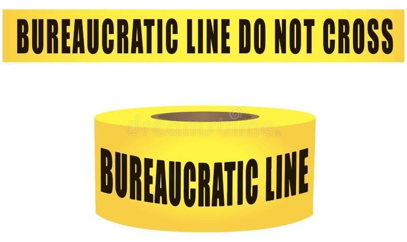 Biurokratyczna linia no krzyżuje royalty ilustracja