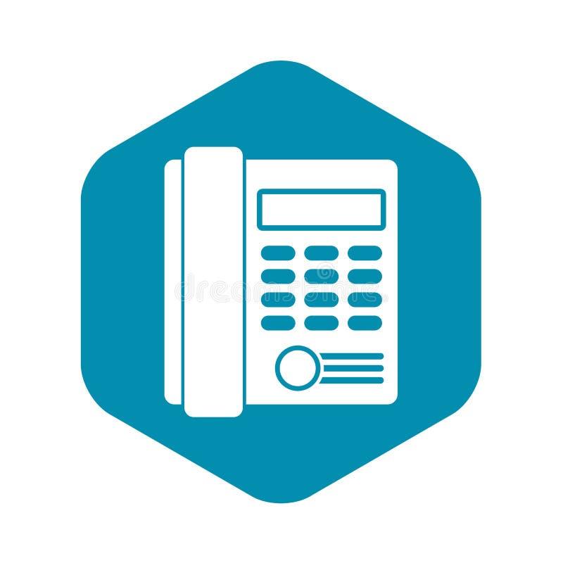 Biurowa biznesowa klawiatura telefonu ikona, prosty styl ilustracji