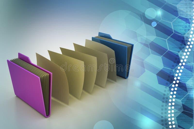 Biurowa falcówka z dokumentami