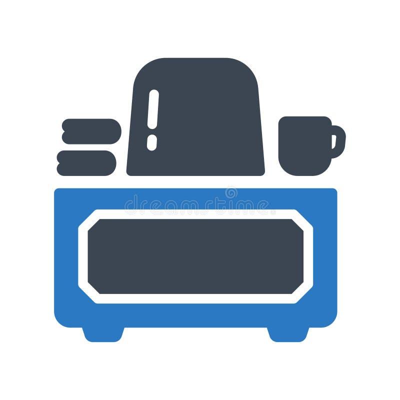 Biurowa glifu colour wektoru ikona ilustracja wektor