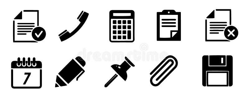 Biurowa kontur ikona Biuro znak Wykresu symbol dla twój strona internetowa projekta, logo, app, UI również zwrócić corel ilustrac royalty ilustracja