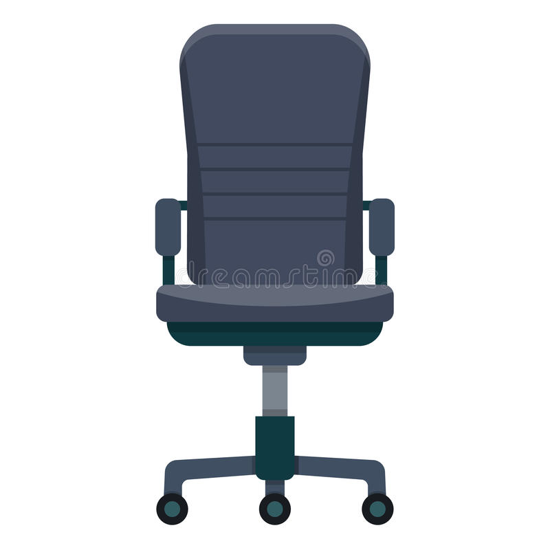 biurowa krzesło ikona royalty ilustracja