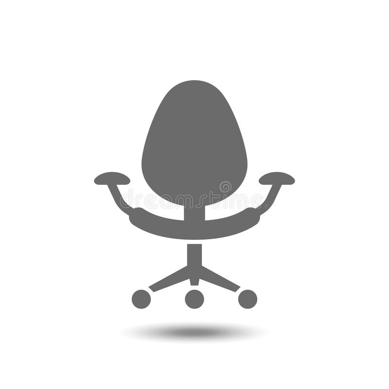 Biurowa krzesło ikona odizolowywająca na białym tle ilustracji