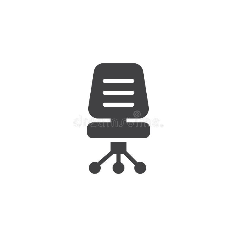 Biurowa krzesło wektoru ikona royalty ilustracja