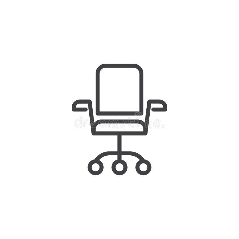 Biurowa krzes?o linii ikona ilustracji