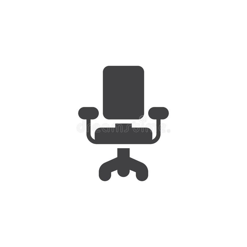 Biurowa krzes?o wektoru ikona royalty ilustracja