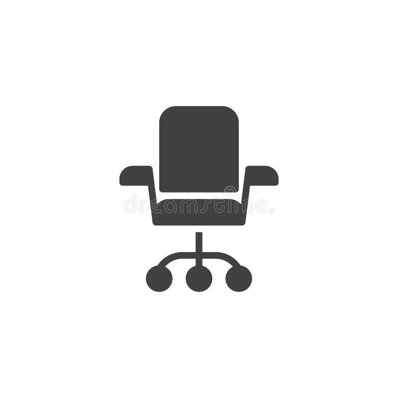 Biurowa krzes?o wektoru ikona ilustracja wektor