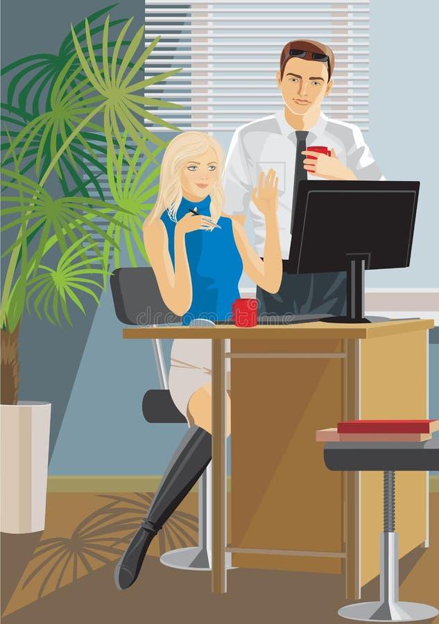 biurowa praca ilustracja wektor