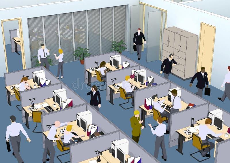 biurowa sytuacja ilustracji