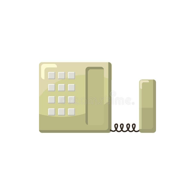 Biurowa telefon ikona, kreskówka styl ilustracji