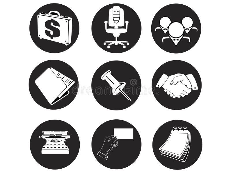 biurowe biznesowe ikony ilustracja wektor