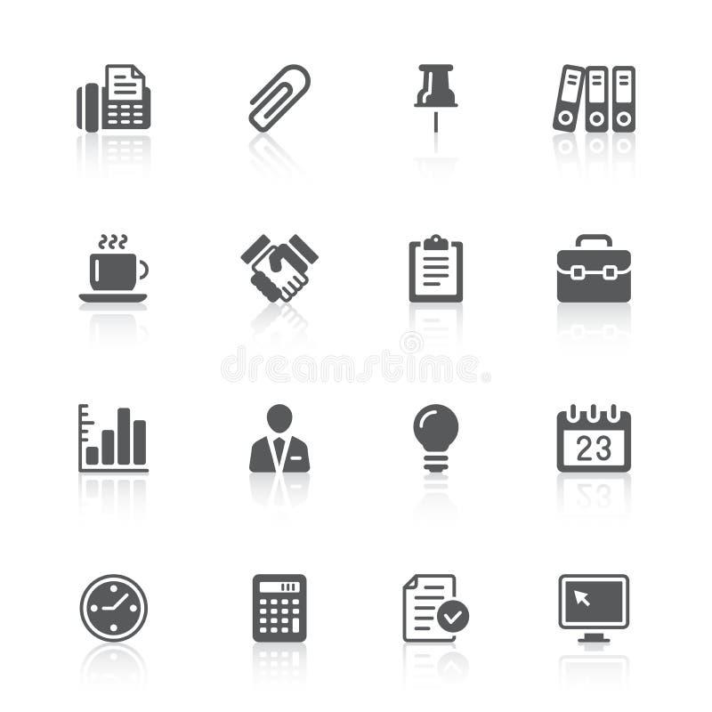 biurowe biznesowe ikony royalty ilustracja