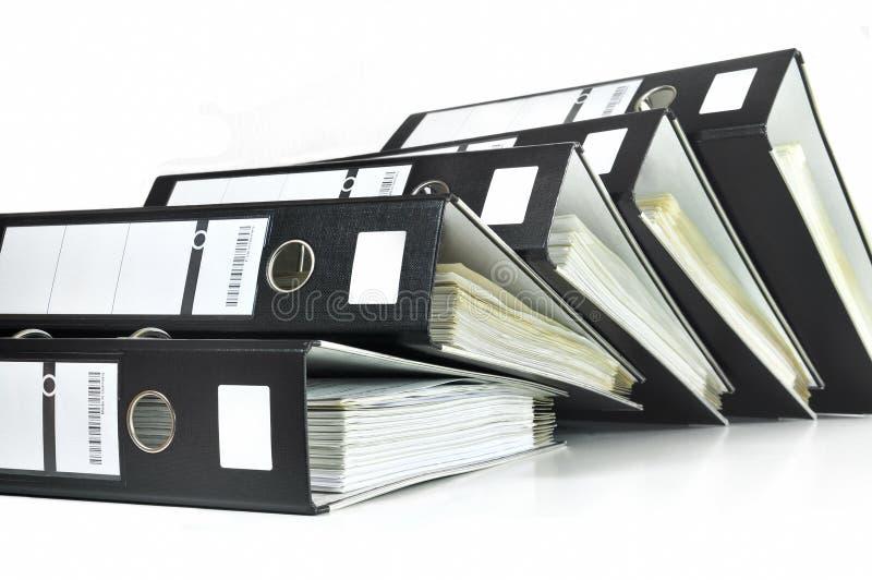 biurowe czarny kartoteki fotografia royalty free