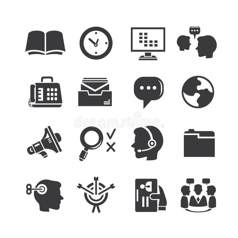 Biurowe i biznesowe ikony royalty ilustracja
