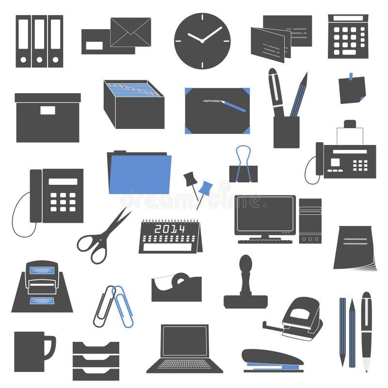 Download Biurowe ikony ilustracji. Ilustracja złożonej z symbol - 28953555