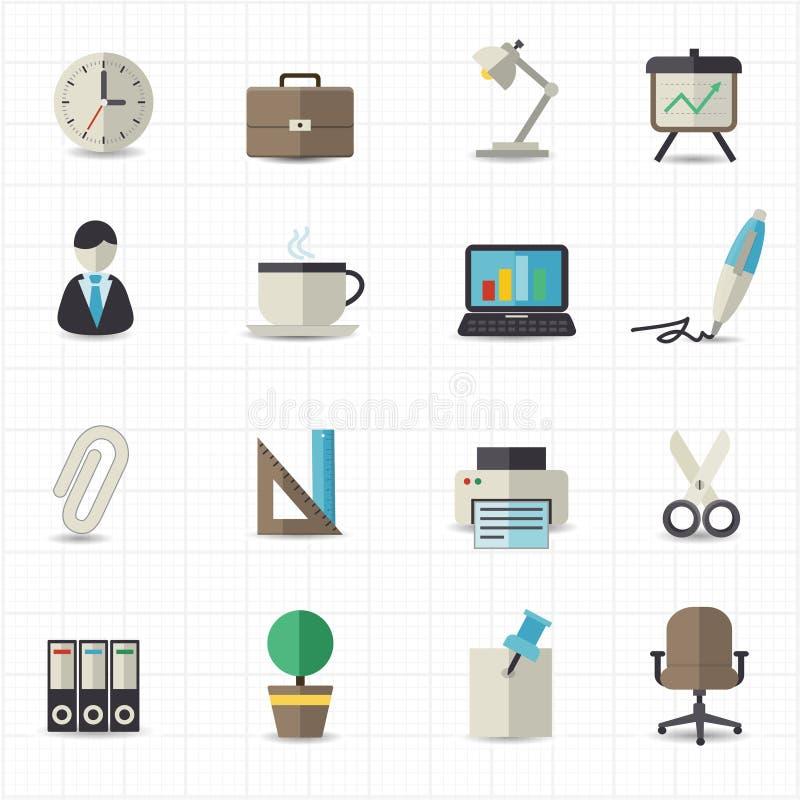 Biurowe ikony ilustracja wektor