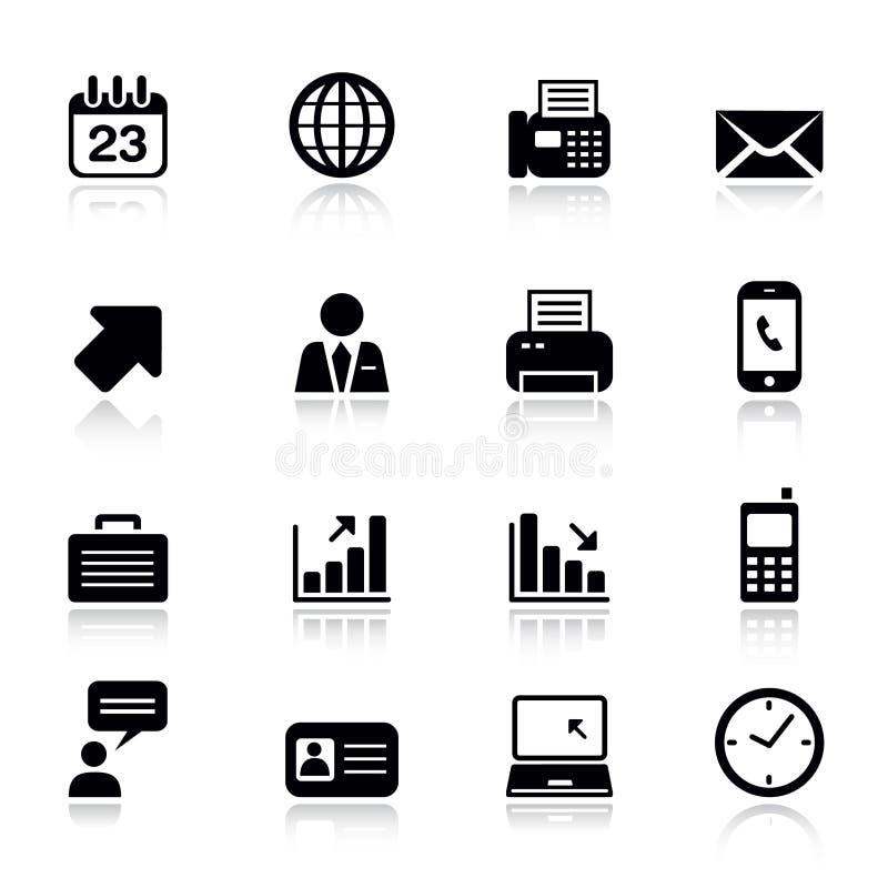 biurowe podstawowy biznesowe ikony royalty ilustracja
