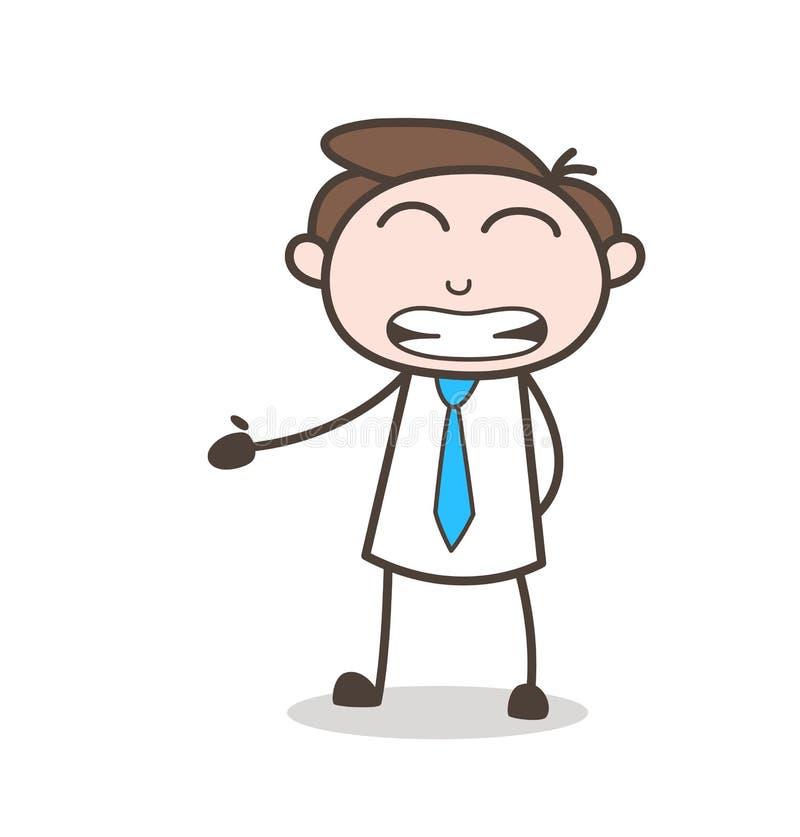 Biurowego charakteru twarzy wyrażenia grimacing wektor ilustracja wektor