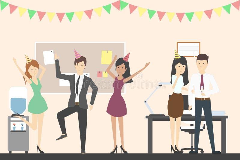 Biurowego przyjęcia taniec ilustracja wektor