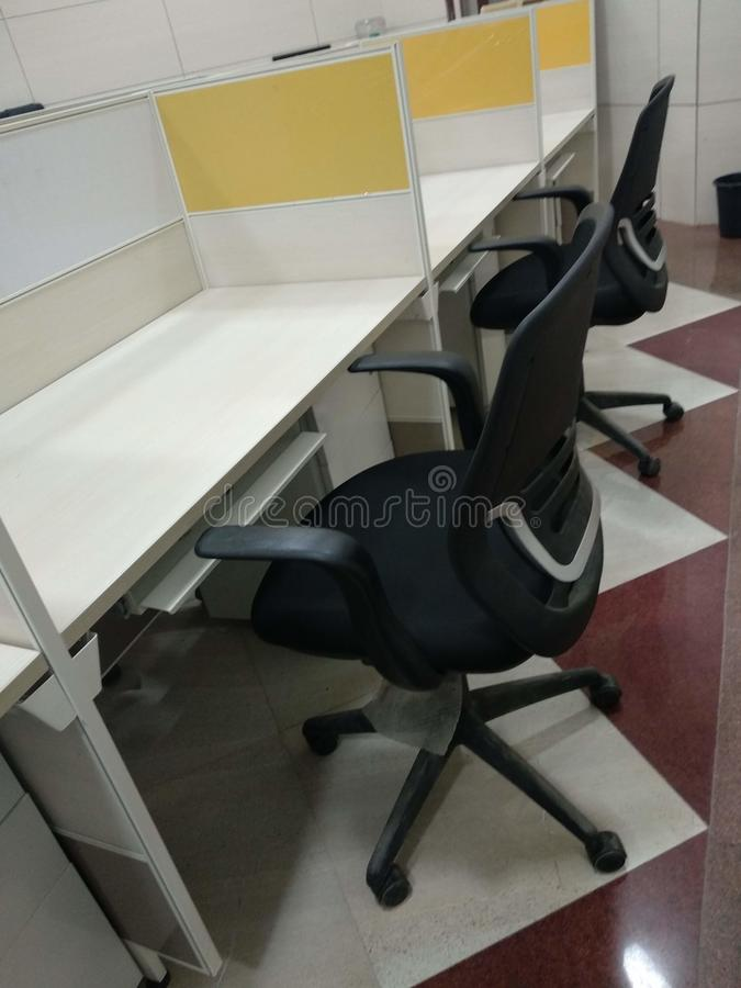Biurowej pracy wygodny krzesło dla pokojowej umysł pracy zdjęcie stock