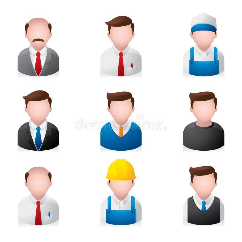 biurowi ikon ludzie royalty ilustracja