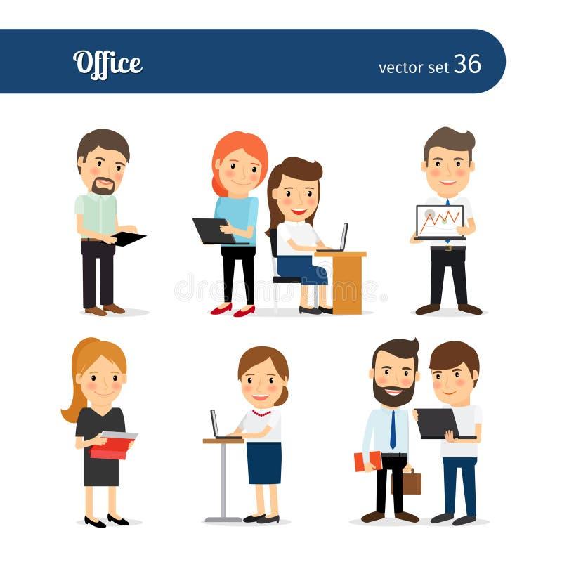Biurowi ludzie Ustawiający royalty ilustracja