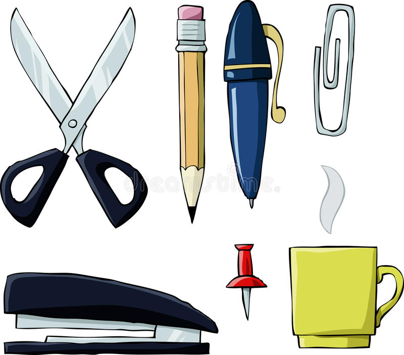biurowi narzędzia royalty ilustracja