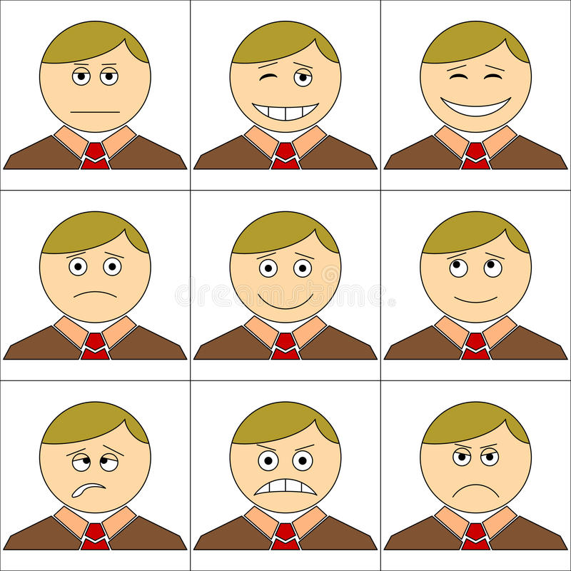 biurowi ustaleni smilies royalty ilustracja