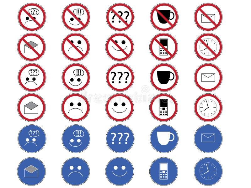 Biurowi znaki. royalty ilustracja