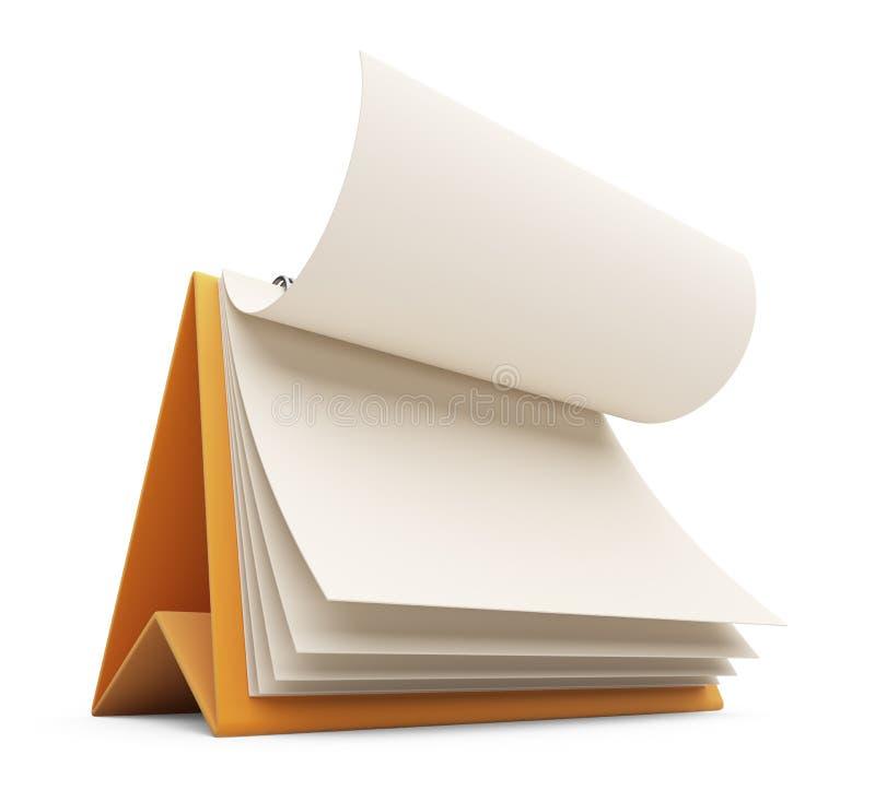 Biurowy biznesu kalendarz 3D Ikona odizolowywająca obraz stock