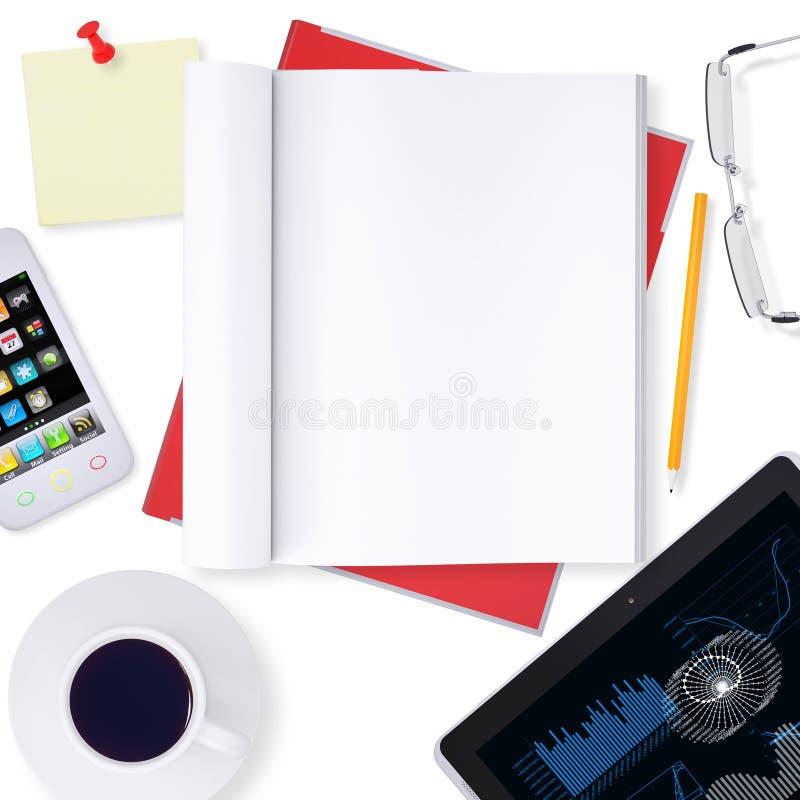 Biurowy desktop ilustracja wektor
