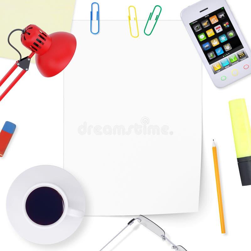 Biurowy desktop ilustracji