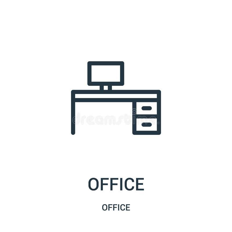 biurowy ikona wektor od biurowej kolekcji Cienka kreskowa biurowa kontur ikony wektoru ilustracja ilustracja wektor
