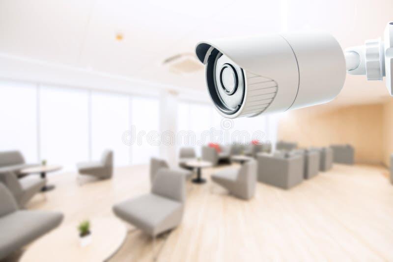 Biurowy kamery bezpieczeństwej CCTV monitorowanie monitoru system zdjęcia royalty free