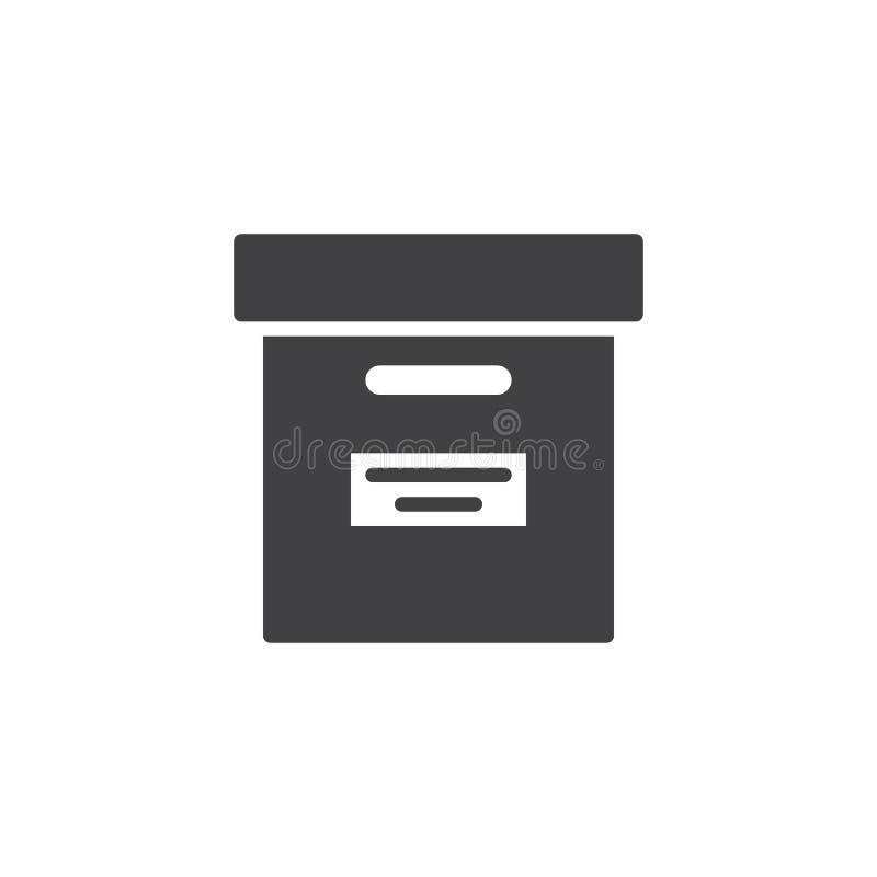 Biurowy kartoteki pudełka ikony wektor royalty ilustracja