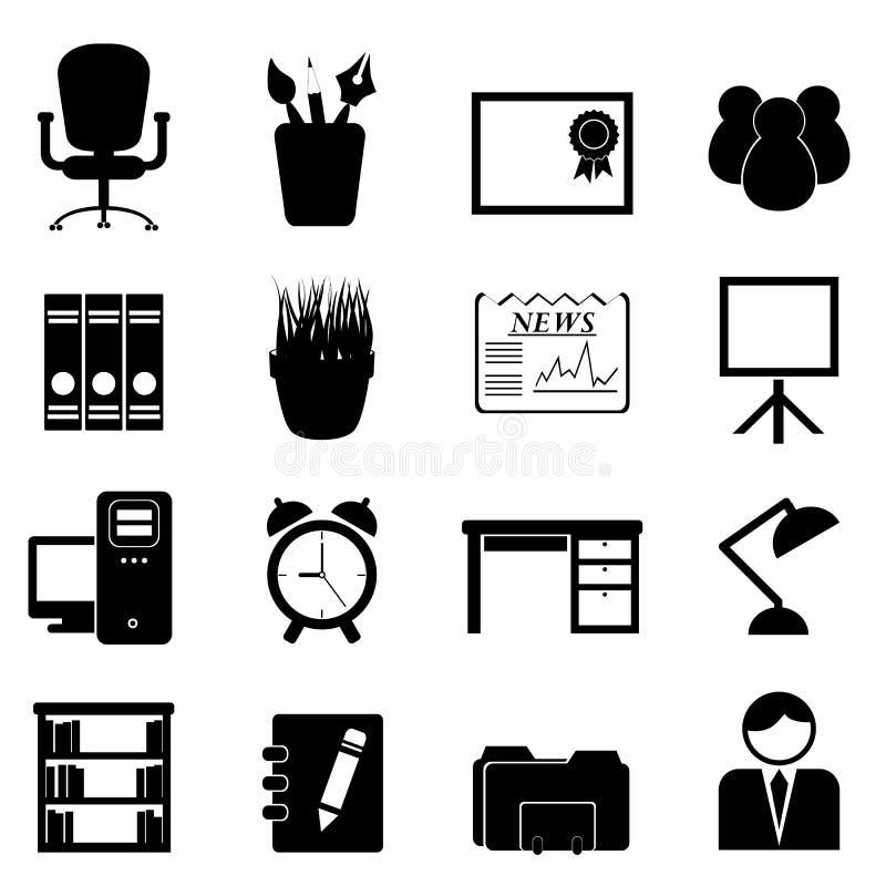 Biurowy meble i narzędzia ilustracja wektor