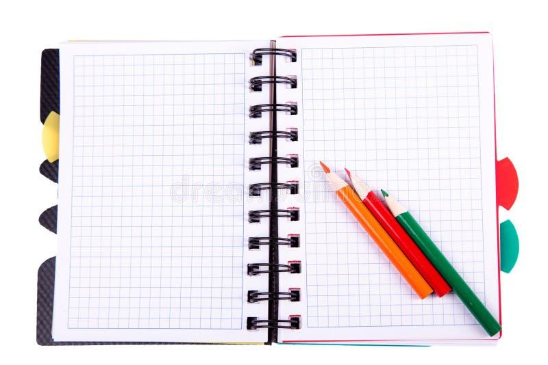 Biurowy notatnik. Popiera szkoły pojęcie. Poczta ja notatka. obraz royalty free