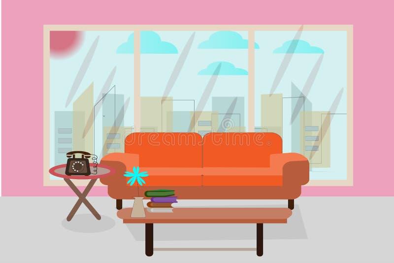 Biurowy recepcyjny pokój witać biznesowych kontakty - wektorowy biznes ilustracja wektor