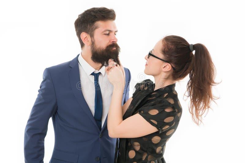 Biurowy romans i flirt Sztuka z jego sercem Sztuka flirt Seksowny sekretarka flirt Znać jego brudnych sekrety Zna obraz stock