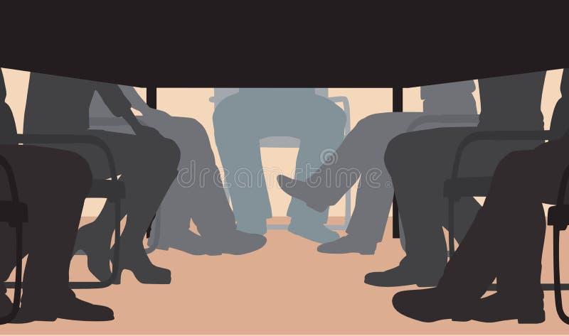 Biurowy spotkanie royalty ilustracja