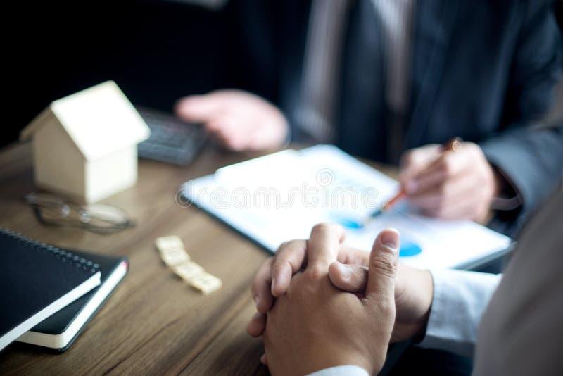 Biurowy spotkanie Pożyczkowego biznesu finace obrazy stock