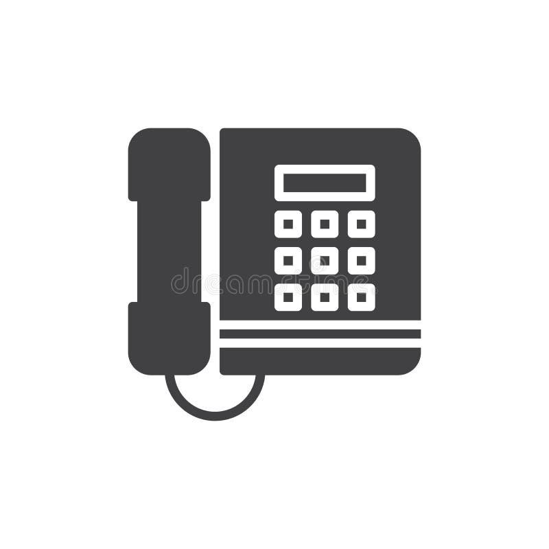 Biurowy telefon ikony wektor, wypełniający mieszkanie znak, stały piktogram odizolowywający na bielu ilustracji