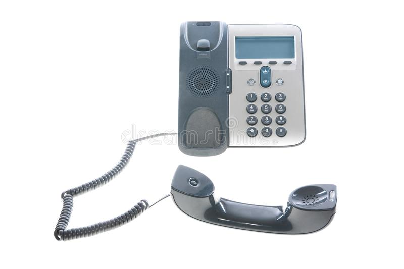 Biurowy telefon - IP telefon obrazy royalty free