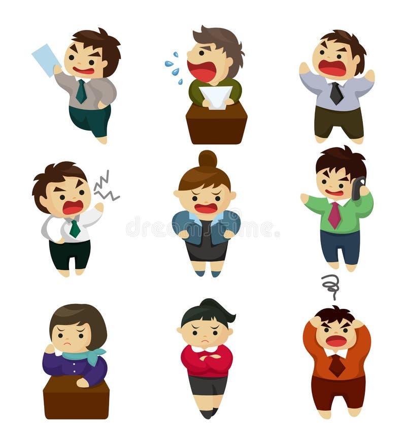 biurowy ustalony nieszczęśliwy pracownik ilustracja wektor